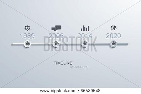 vector timeline infographic element design.