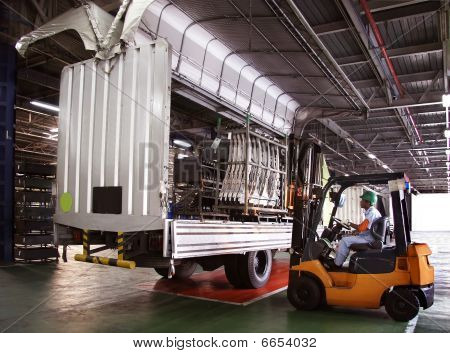 truck and forklift