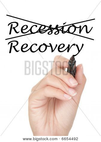Recession And Recovery Concept