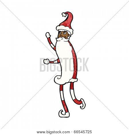 cartoon skinny santa