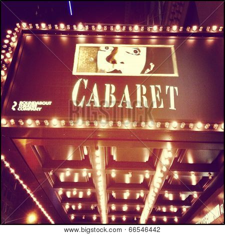Cabaret on Broadway Sign