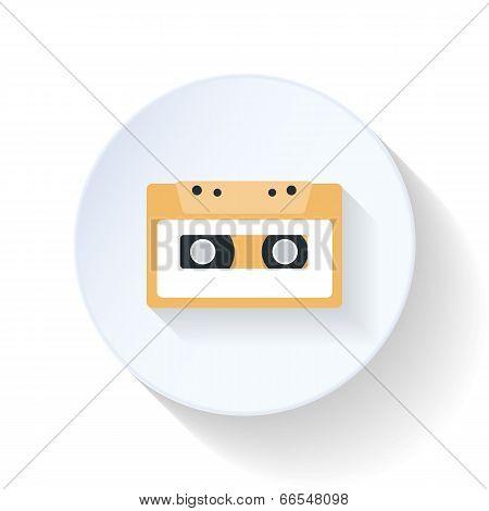 Casette Flat Icon