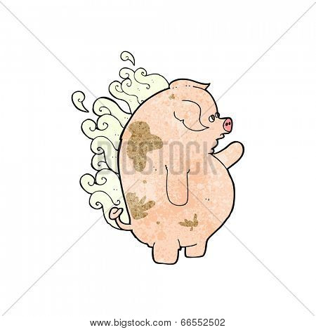 cartoon fat smelly pig
