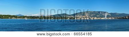 Panoramic view of Geneva area, Switzerland