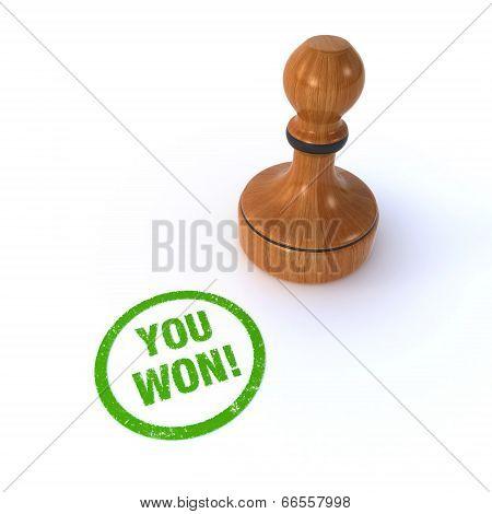 stamp you won