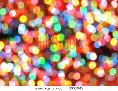 Bright Colorful Christmas Lights Background