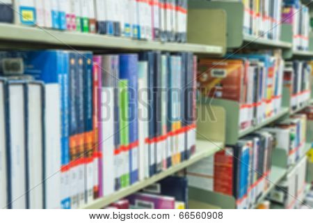 Blured Books In University Library. Blured Effect. Background For You Pictures