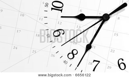 Ticking Time Clock with Calendar