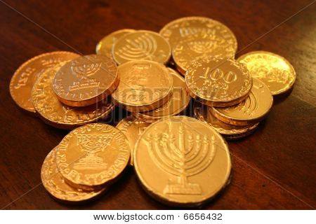 Hanukkah gelt coins