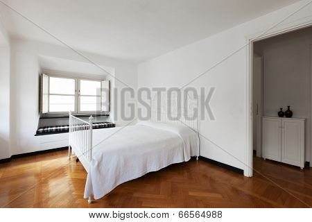 Interior of modern apartment, bedroom