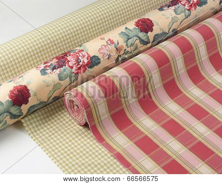 Beautiful curtains fabric texture
