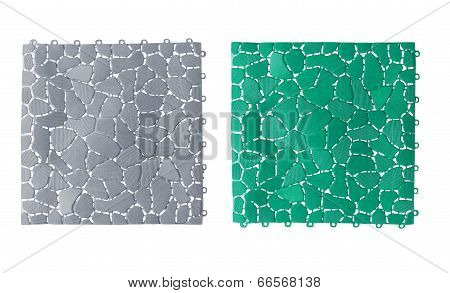Anti slip plastic tiles