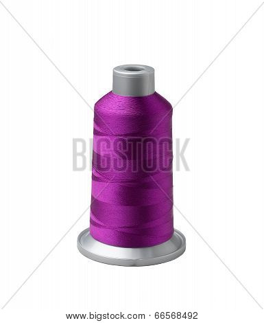 Bobbin of purple thread