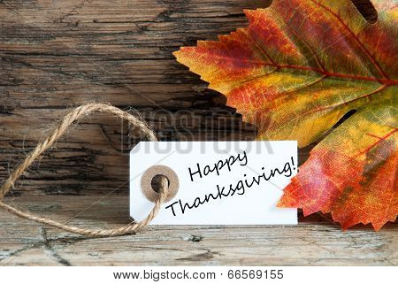 Happy Thanksgiving With Autumn Background