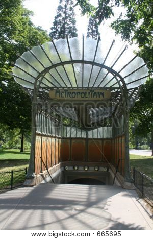 Art Nouveau Metro Arch In Paris