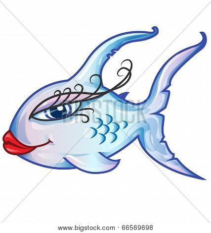 Sensual Fish Cartoon