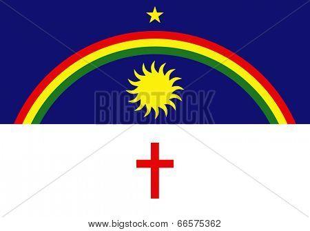 State flag of Pernambuco in Brazil.