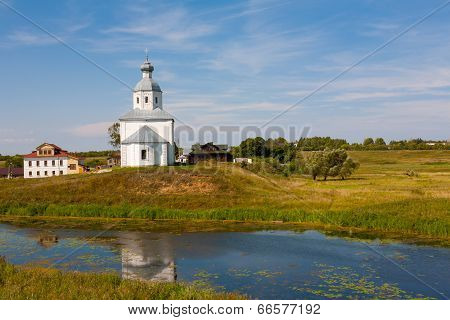 Ilinsky church at Suzdal in summer.