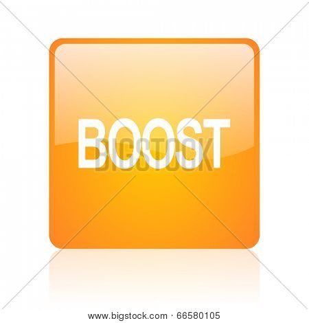 boost computer icon on white background