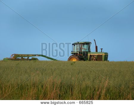 Farmer Making Hay