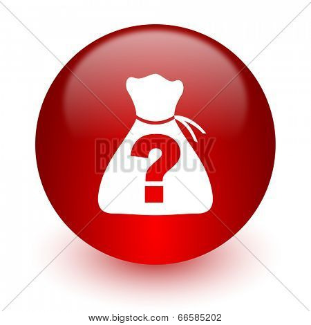 riddle red computer icon on white background