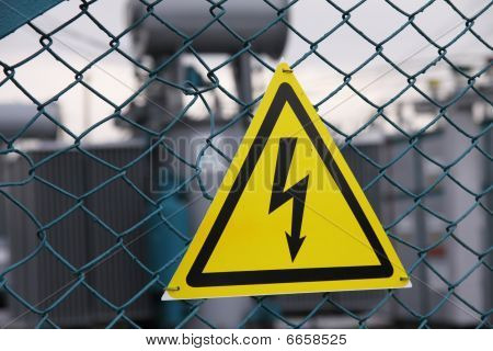 Sign Dangerously Electricity