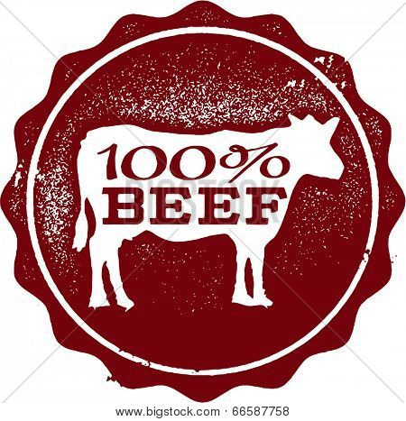 100% Beef Rubber Stamp