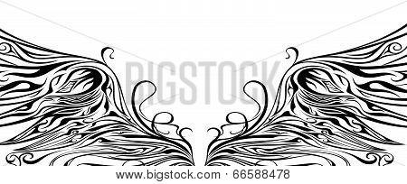 Ornaments Eagle Wing Silhouette