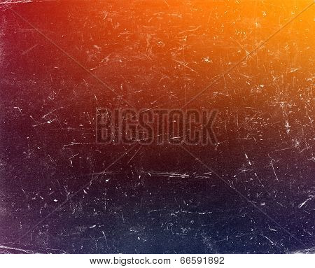 Old Grunge Gradient Colorful Background With Scratches
