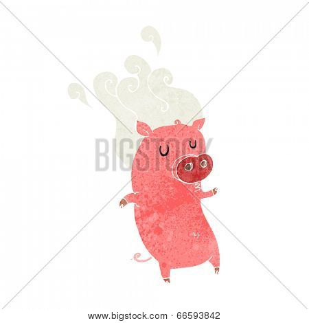 smelly cartoon pig
