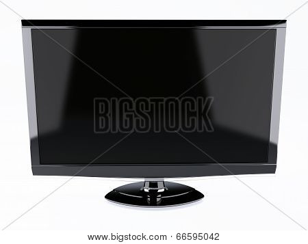 High Definition Tv Screen. Isolated White