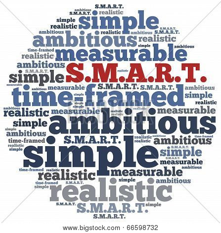 Word Cloud Illustration Related To Smart Concept Of Goals