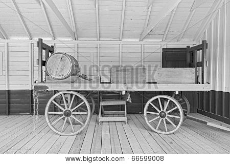 Old Open Horsedrawn Wagon