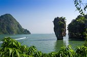 stock photo of james bond island  - Phang Nga Bay Beautiful View of Tapu Island in Thailand - JPG