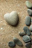 pic of pumice-stone  - Grey stone in shape of heart - JPG