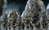 foto of fiction  - 3D character science fiction alien invasion scene - JPG