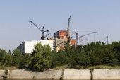 stock photo of nuclear disaster  - Constuction plant of nuclear reactor 5 and 6 - JPG