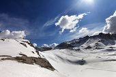 picture of plateau  - Snow plateau at nice day - JPG