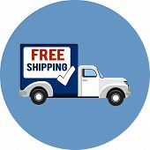 picture of shipping receiving  - Vector flat truck  - JPG