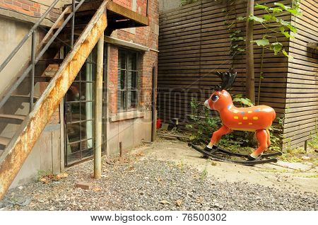 Reindeer Rocking Horse