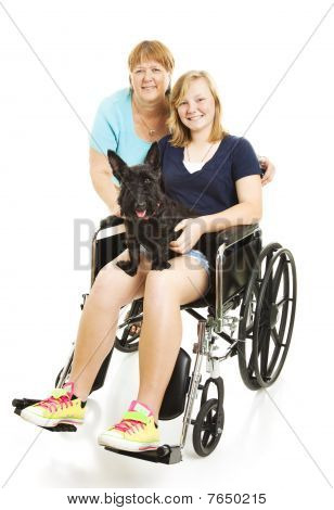 Disabled Teen With Mom