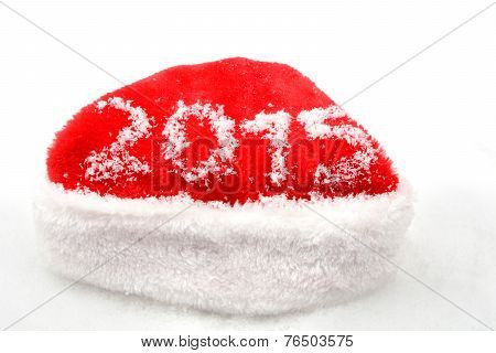 Santa Claus Christmas Red Cap 2015 New Year On Snow