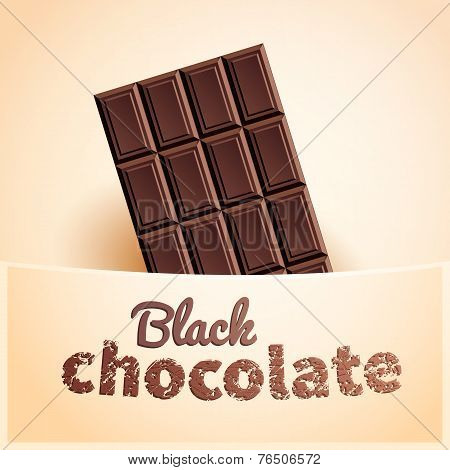 Bar Of Black Chocolate