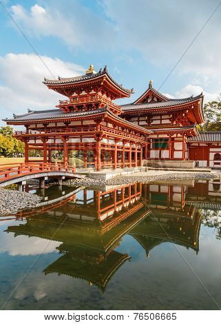 The Phoenix Hall of Byodo-in Temple in Kyoto Japan