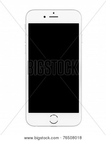 Iphone 6 On White Background Turned Off.