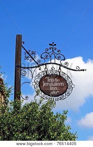 Jerusalem Inn sign, Nottingham