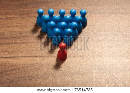 The Leader, Red Leads Blue Figurines