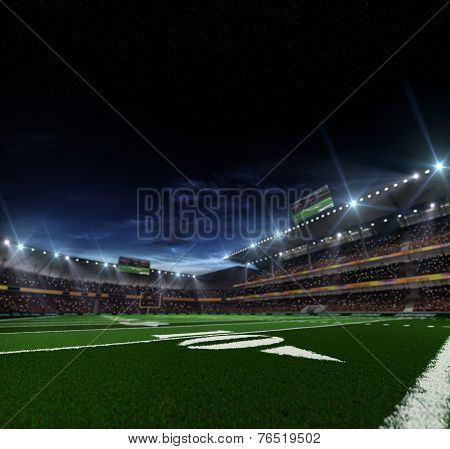 American football stadium befor mach