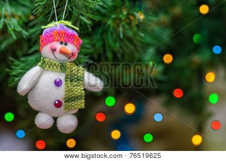 Snowball Toy On Christmas Tree