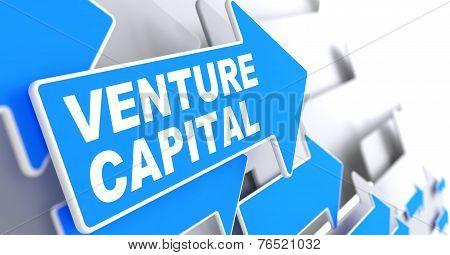 Venture Capital on Direction Arrow Sign.